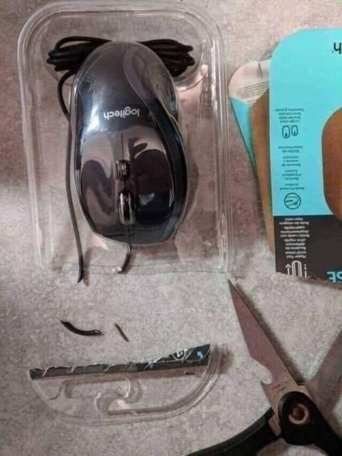 упаковка компьютерной мыши