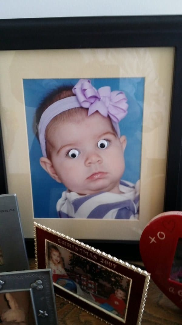 детская фотография в рамке