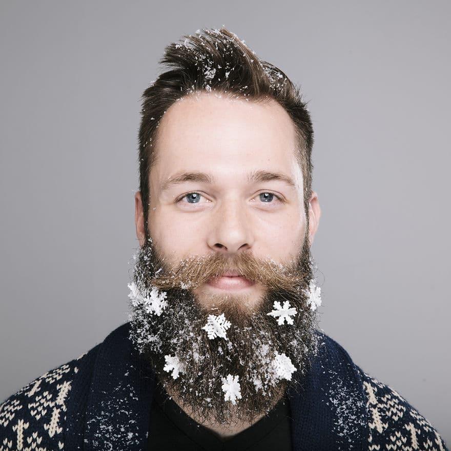снежинки в бороде