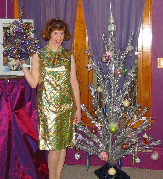 женщина с елкой
