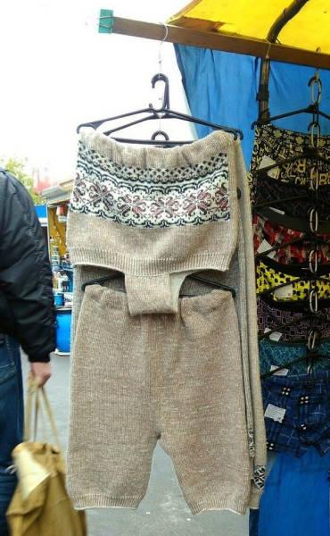 шерстяные вещи на рынке
