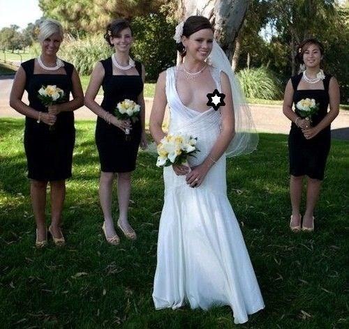 невеста оголила декольте