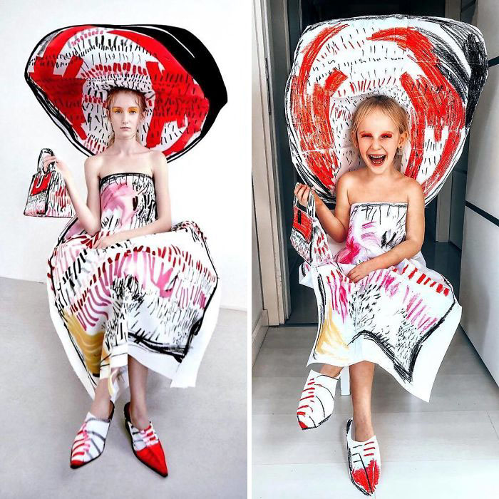 платье от дизайнера Эдды Гимнес