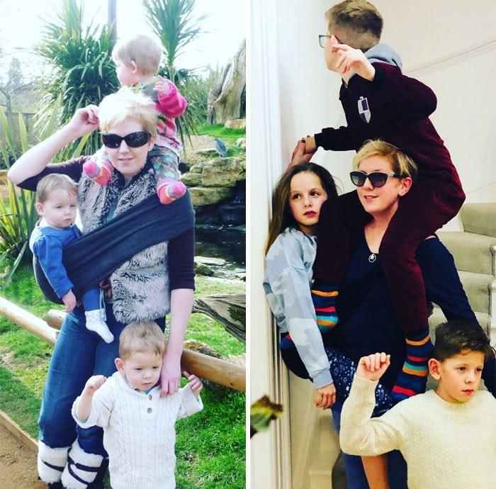 Клер Макинтош с детьми