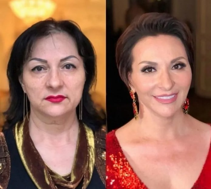 женщина до и после