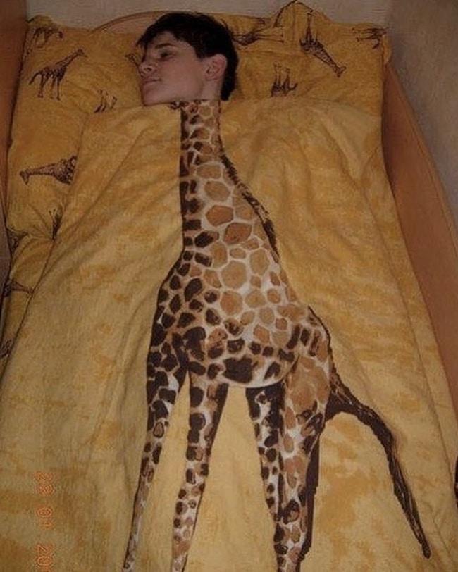 Одеяло с изображением жирафа без головы
