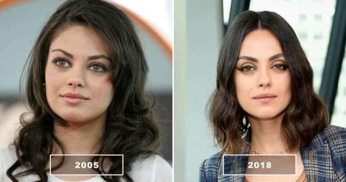 мила кунис в 2005 и в 2018