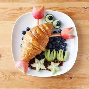 Рак из еды