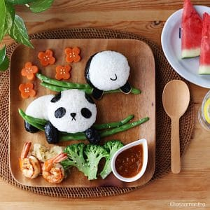 Панда из риса