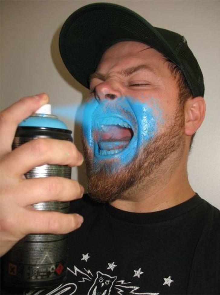 синий аэрозоль