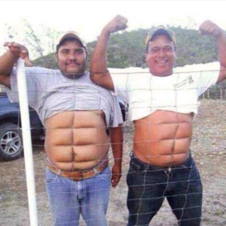 толстые мужики