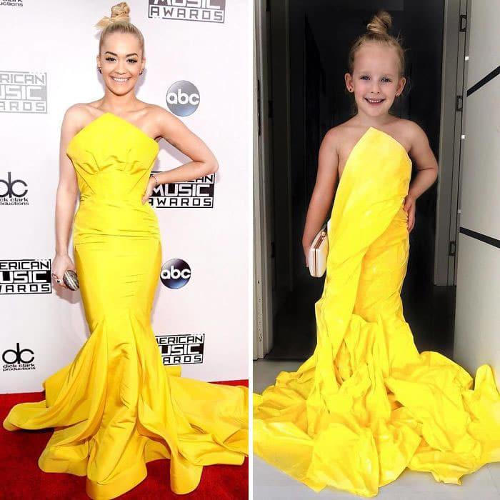 рита ора в желтом платье