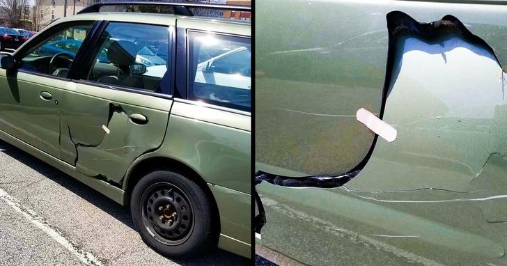 сломанная дверь авто