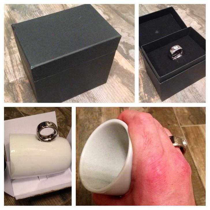 чашка с кольцом