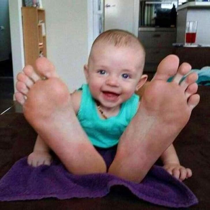 большие ступни