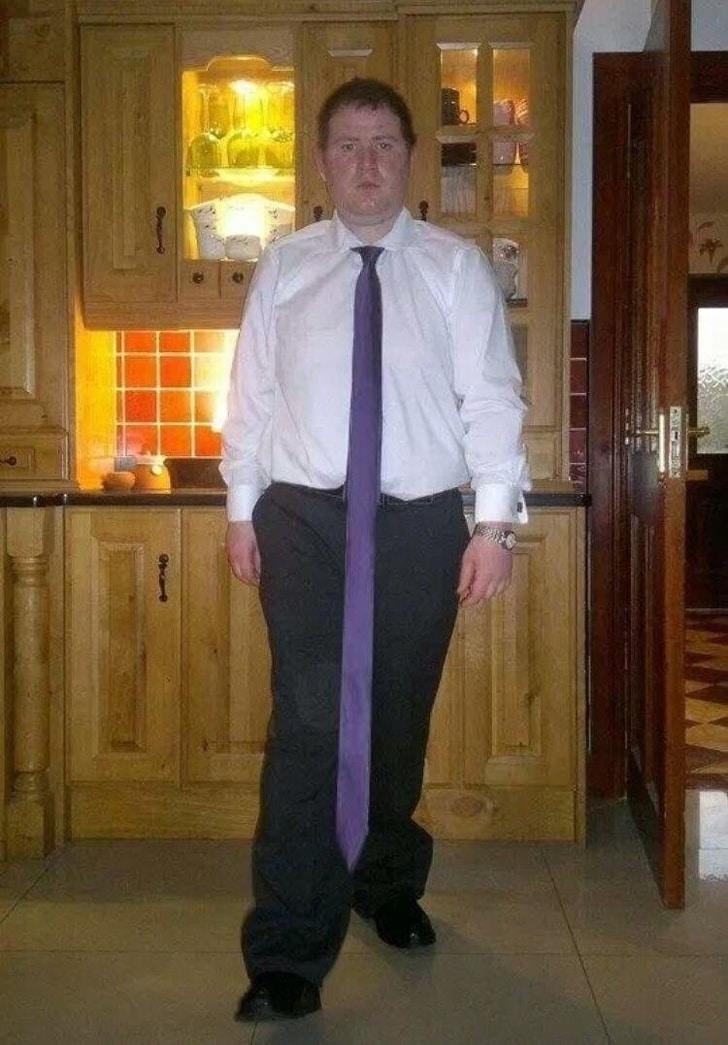 длинный галстук