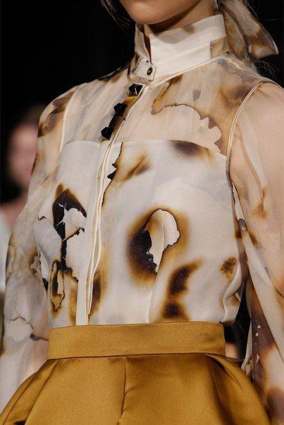 пропаленная блузка