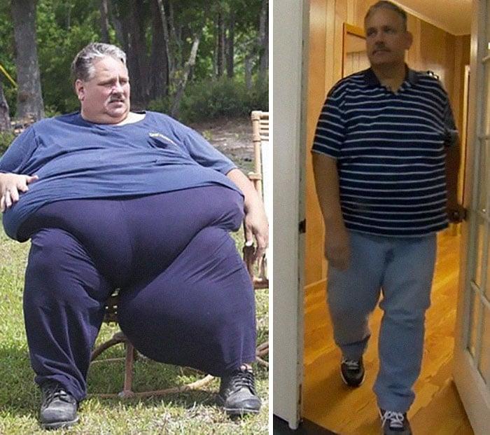 Снимки полного и похудевшего мужчины
