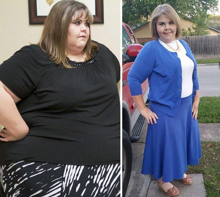 Фото толстой и похудевшей женщины