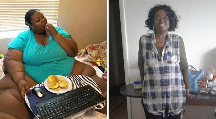 Женщина худеет: фото до и после