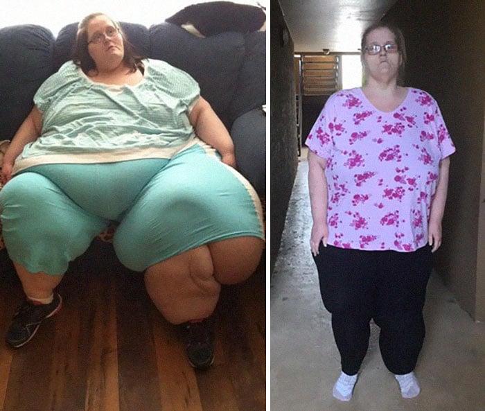 Женщина похудела: фото до и после