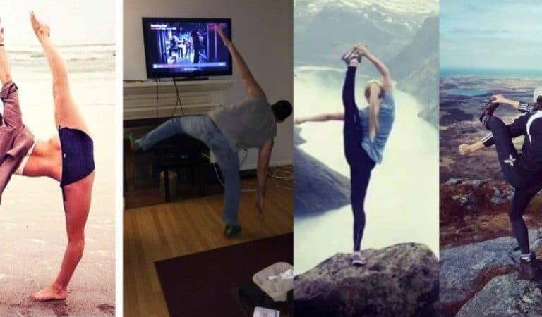 Феерический провал! 17 человек взялись повторить позы из йоги:)