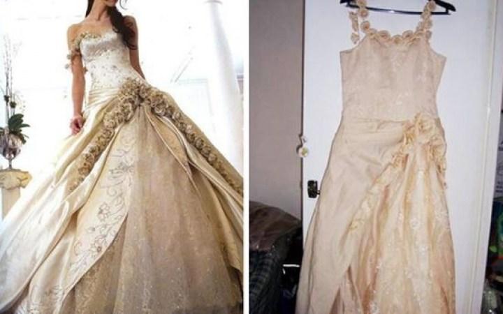 платье на девушке и на тремпеле