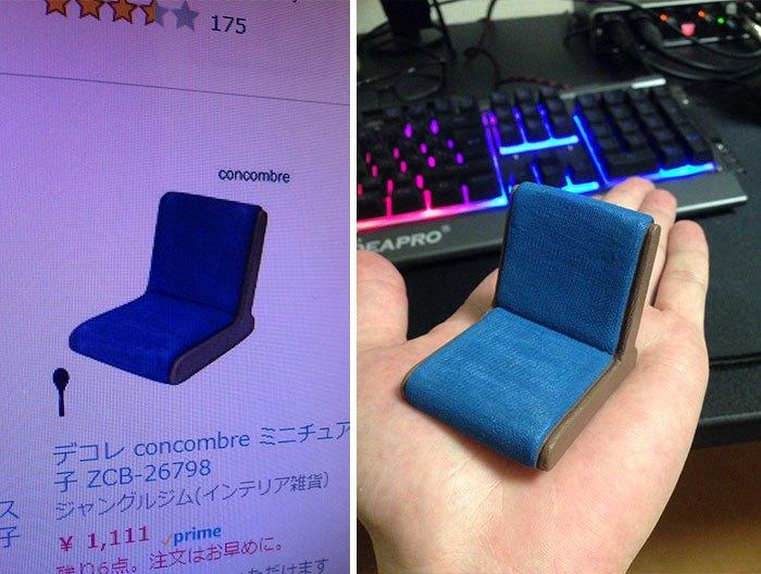 мини кресло на ладони