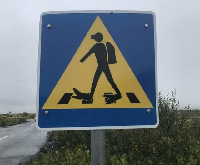 """Дорожный знак """"Аквалангист"""""""
