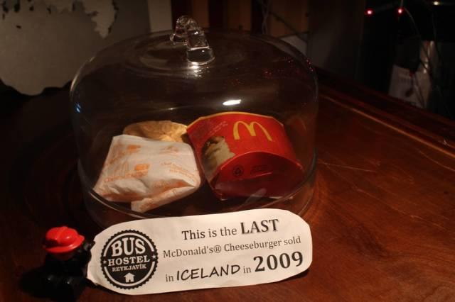 Последний чизбургер, проданный в Исландии