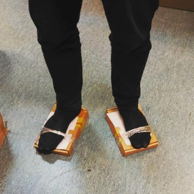 коробки вместо обуви