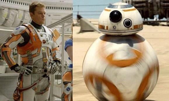 мэтт деймон и робот из звездных войн
