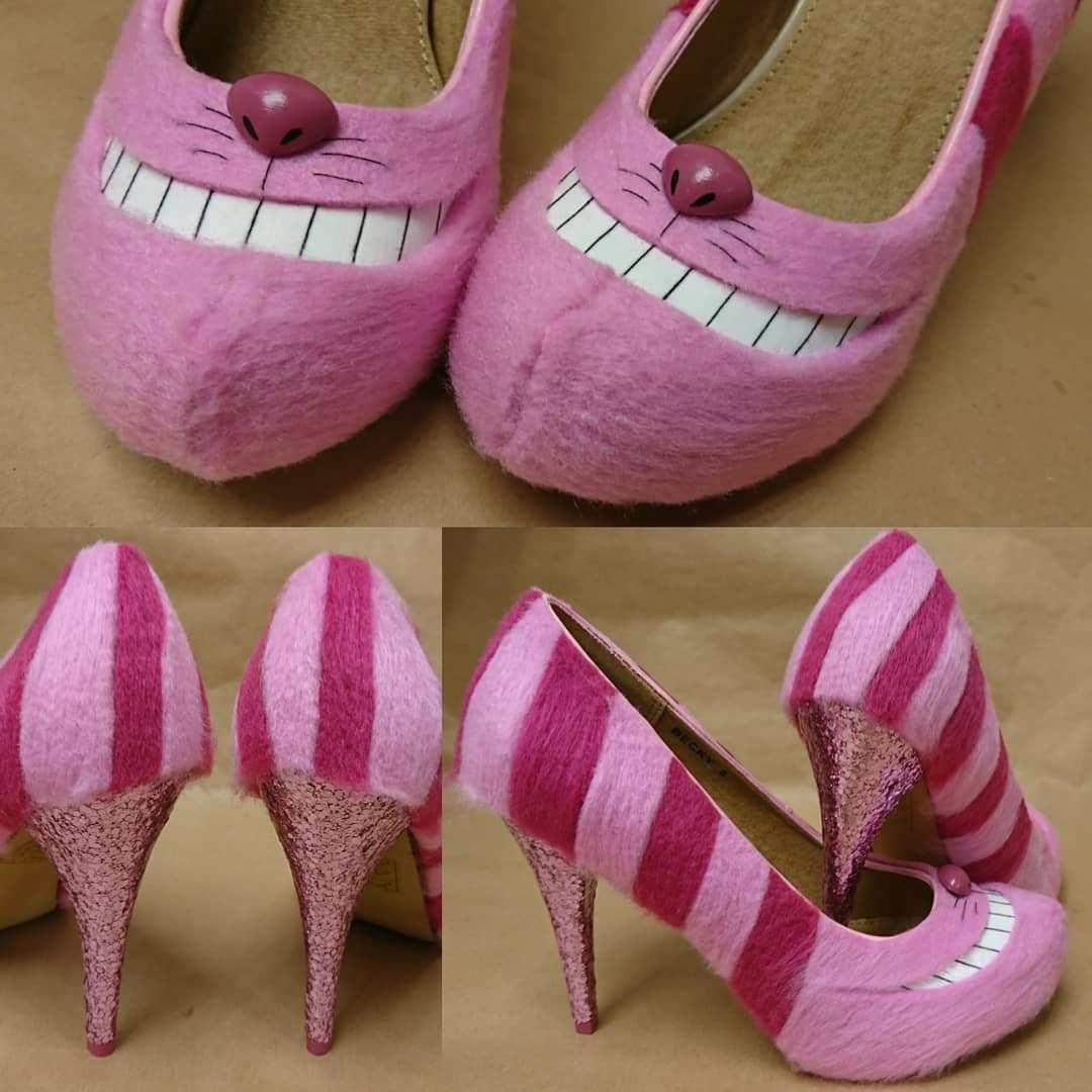 розовые туфли на каблуке