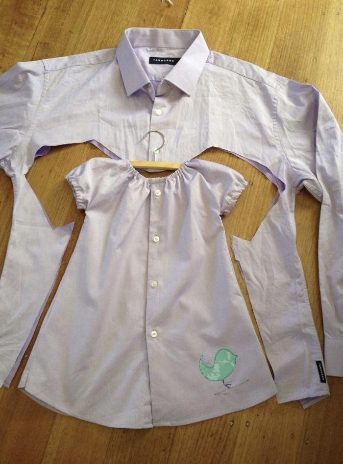 детское платье из старой рубашки