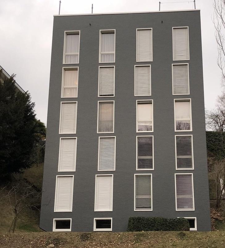 кривые окна