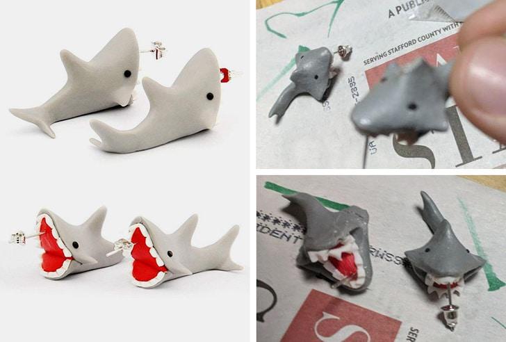 серьги акулы