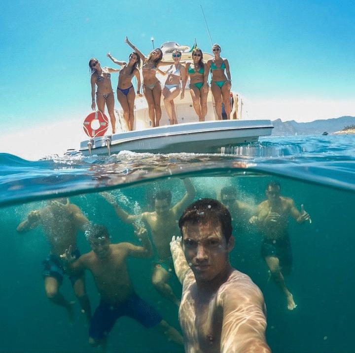 подводное селфи
