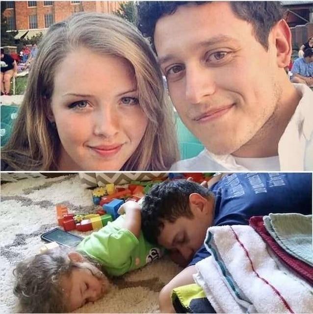 папа с дочкой спят
