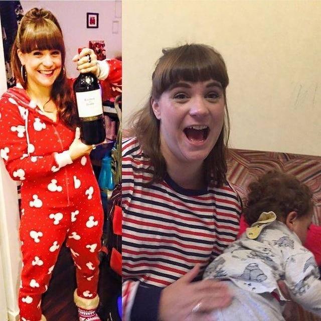 женщина до и после появления детей