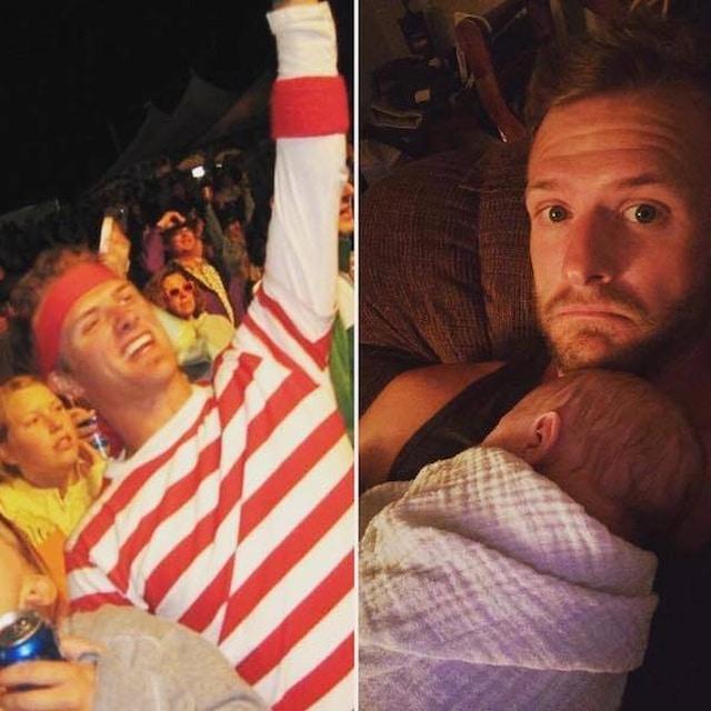 папа с младенцем