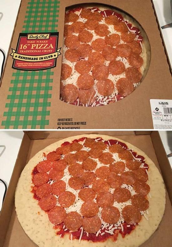 пицца и коробка
