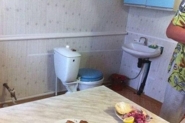 туалет на кухне