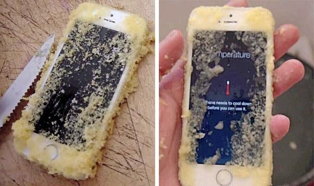 телефон в пироге
