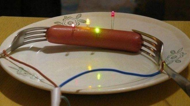 праздничная сосиска