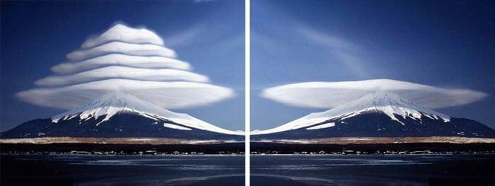 облака над горой
