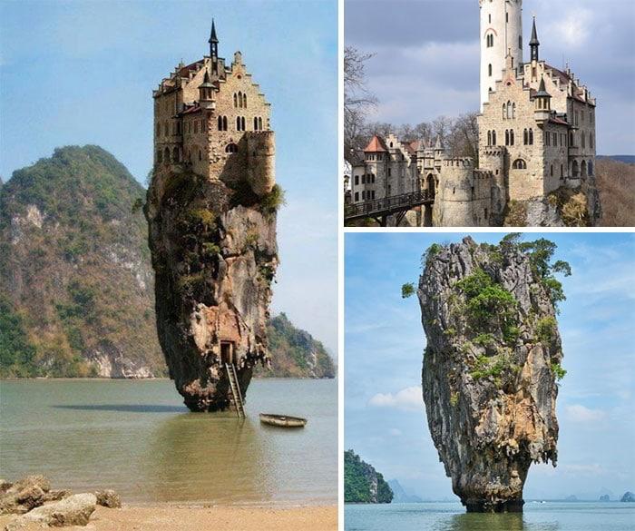 замок на скале