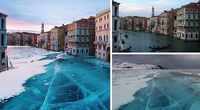 венеция покрытая льдом