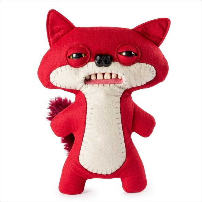 плюшевая лиса с зубами