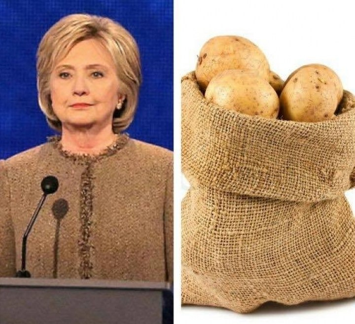хиллари клинтон и мешок картошки