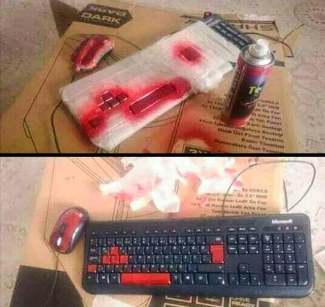 клавиатура и краска